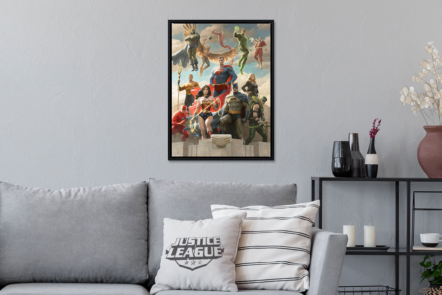 The Justice League: Classic Variant Art Print feature image