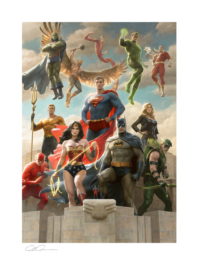 The Justice League: Classic Variant Art Print -
