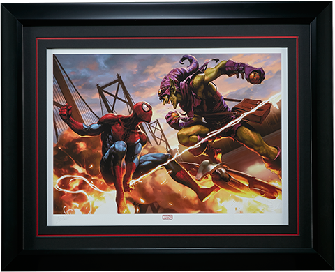 Sideshow Collectibles Spider-Man vs Green Goblin Art Print