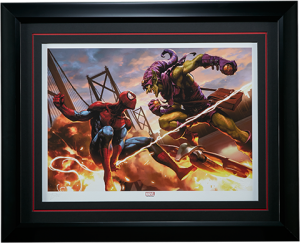 Spider-Man vs Green Goblin Art Print