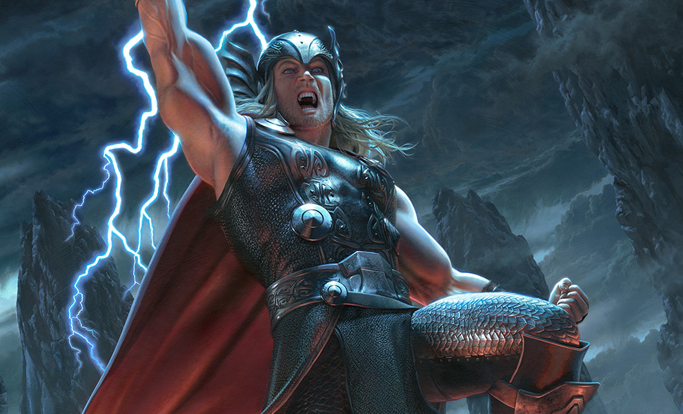 Gallery Feature Image of Thor: Breaker of Brimstone Art Print - Click to open image gallery