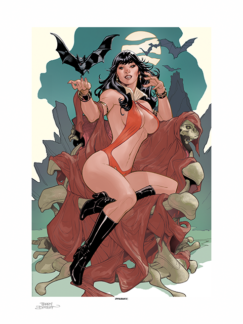 Sideshow Collectibles Vampirella A Scarlet Thirst Art Print