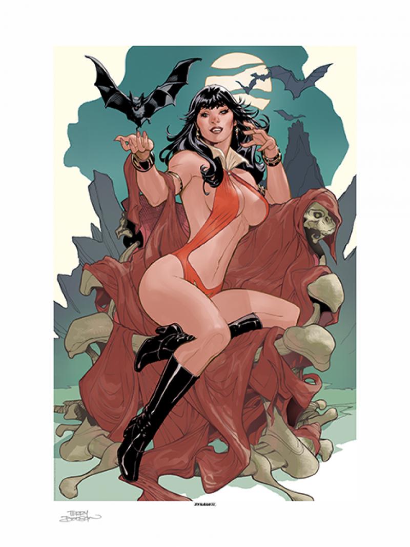 Vampirella A Scarlet Thirst Art Print - Artist Proof