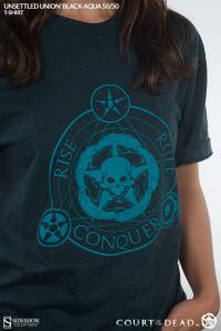Gallery Image of Unsettled Union Black-Aqua T-Shirt Apparel