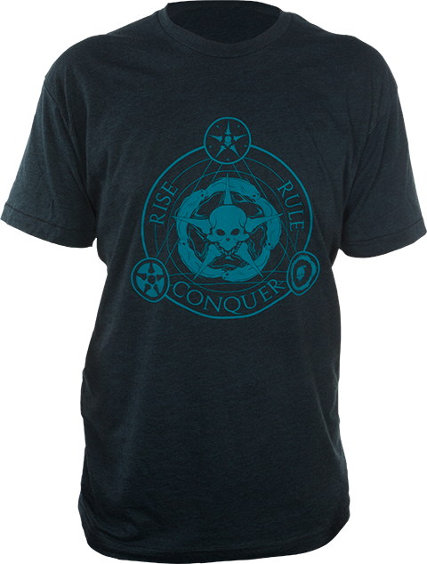 Sideshow Collectibles Unsettled Union Black-Aqua T-Shirt Apparel