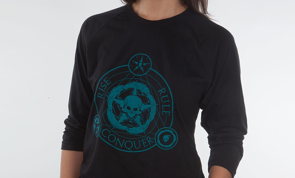 Gallery Feature Image of Unsettled Union Black Raglan T-Shirt Apparel - Click to open image gallery