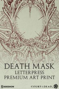 Gallery Image of Death Mask Letterpress Art Print