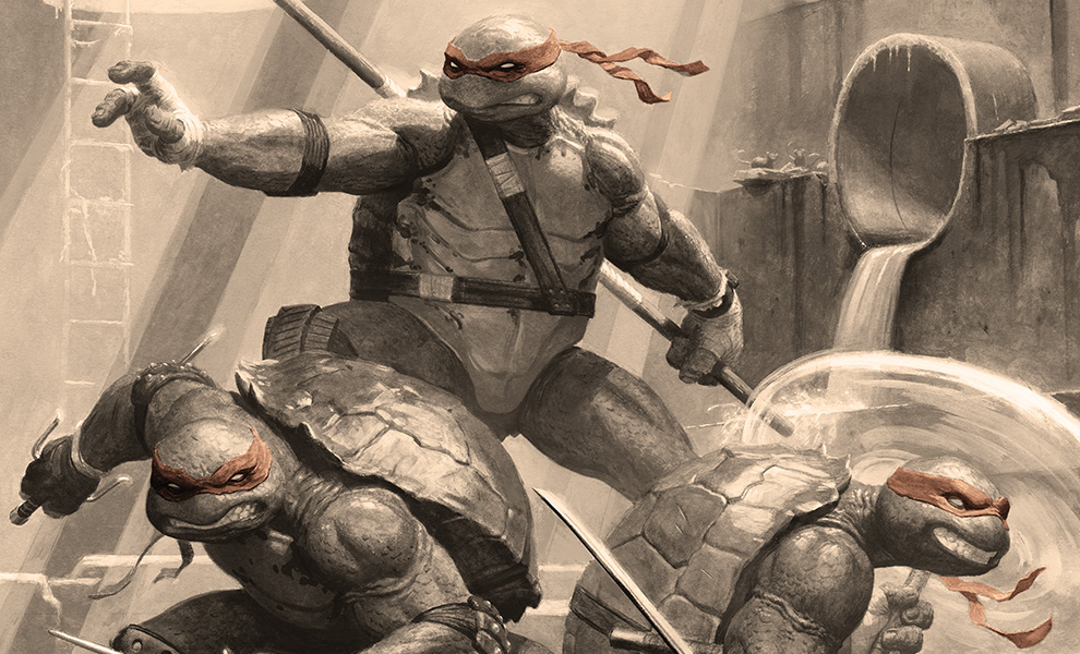 Gallery Feature Image of Teenage Mutant Ninja Turtles Classic Variant Art Print - Click to open image gallery
