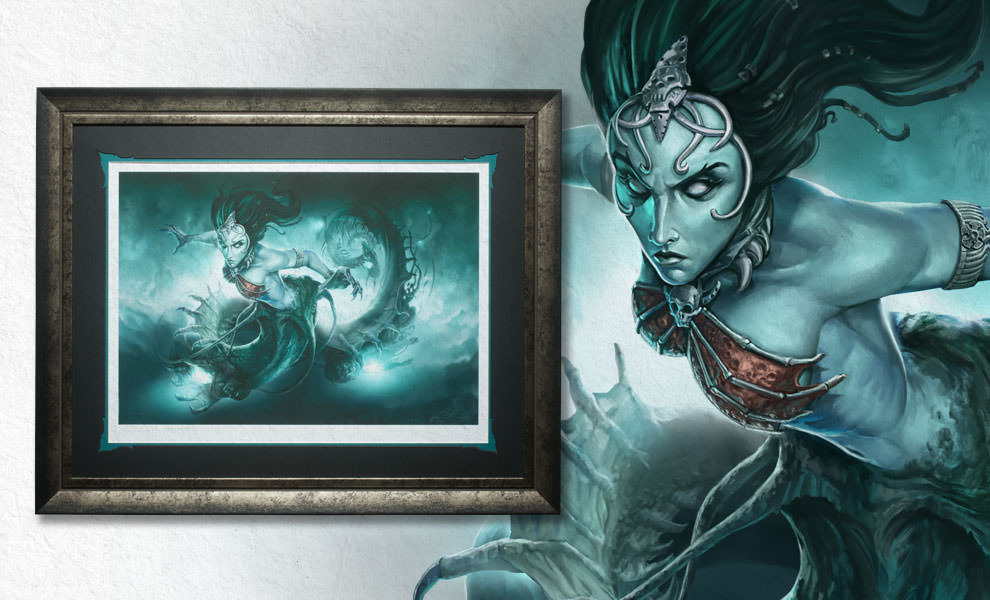 Gallery Feature Image of Gallevarbe Crossing the Veil Art Print - Click to open image gallery