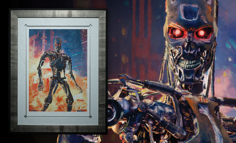 Gallery Feature Image of Terminator The Future is Not Set Art Print - Click to open image gallery