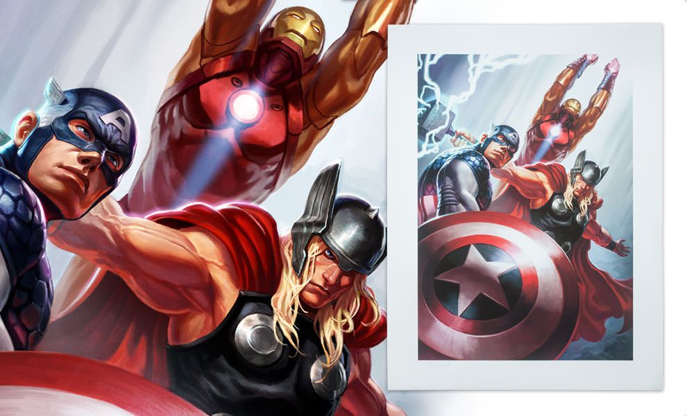 Gallery Feature Image of Avengers Trinity Art Print - Click to open image gallery