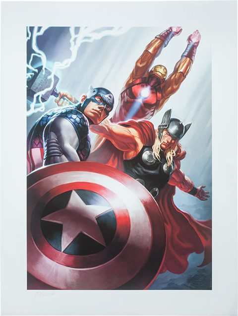 Sideshow Collectibles Avengers Trinity Art Print