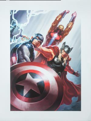 Avengers Trinity Art Print