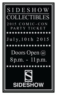 Gallery Image of 2015 Sideshow Comic-Con Party Ticket Ticket