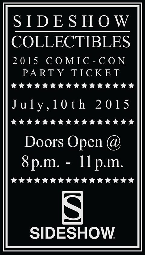 Sideshow Collectibles 2015 Sideshow Comic-Con Party Ticket Ticket