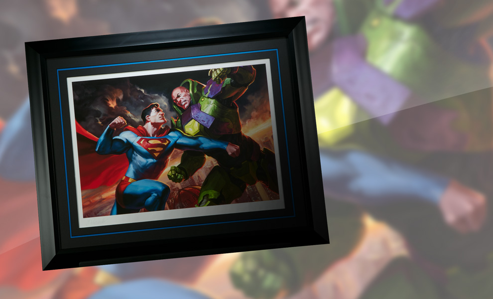 Gallery Feature Image of Superman vs Lex Luthor Art Print - Click to open image gallery