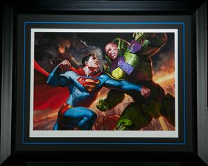 Superman vs Lex Luthor Art Print