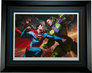 Superman vs Lex Luthor Art Print