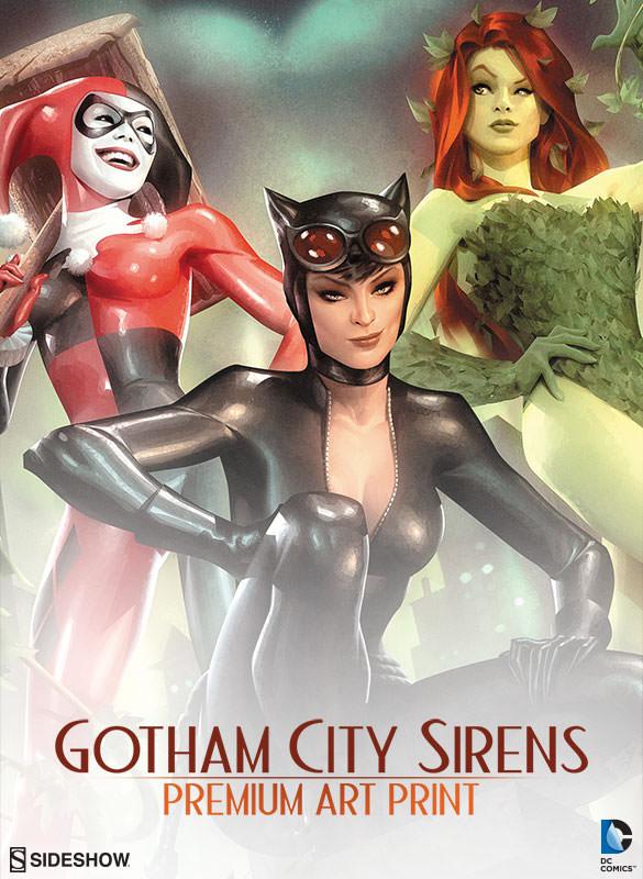 64568988cc6c04 DC Comics Gotham City Sirens Premium Art Print by Sideshow C ...