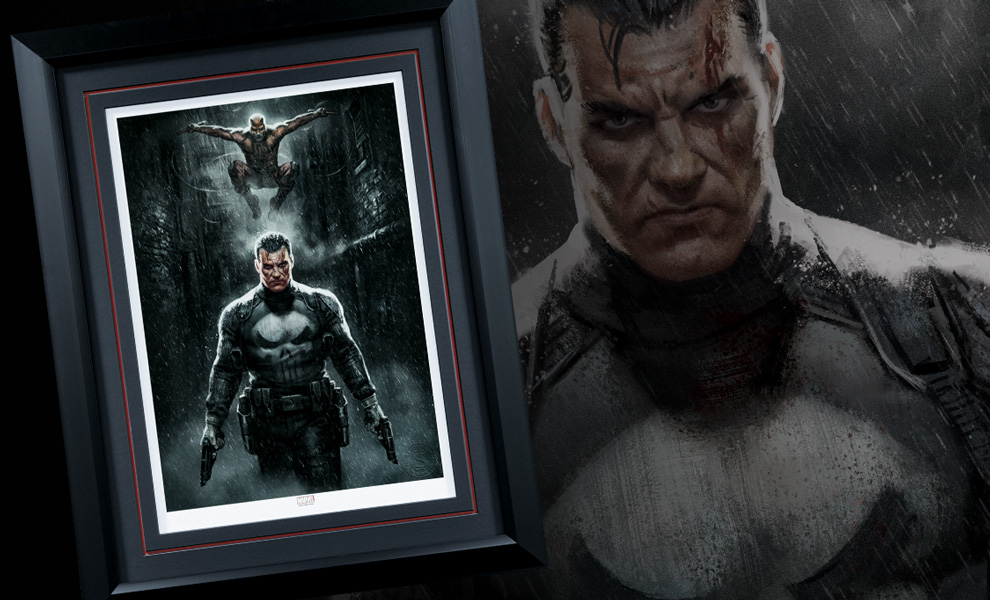 Gallery Feature Image of Marvel Knights Punisher Daredevil Art Print - Click to open image gallery