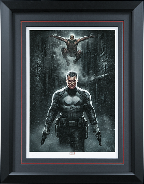 Sideshow Collectibles Marvel Knights Punisher Daredevil Art Print