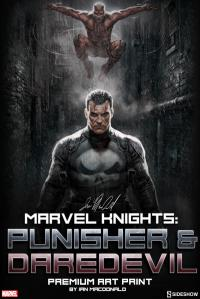 Gallery Image of Marvel Knights Punisher Daredevil Art Print