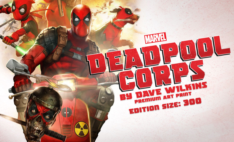 Gallery Feature Image of Deadpool Corps Art Print - Click to open image gallery