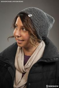 Gallery Image of Sideshow Double Layer Knit Gray Beanie Apparel