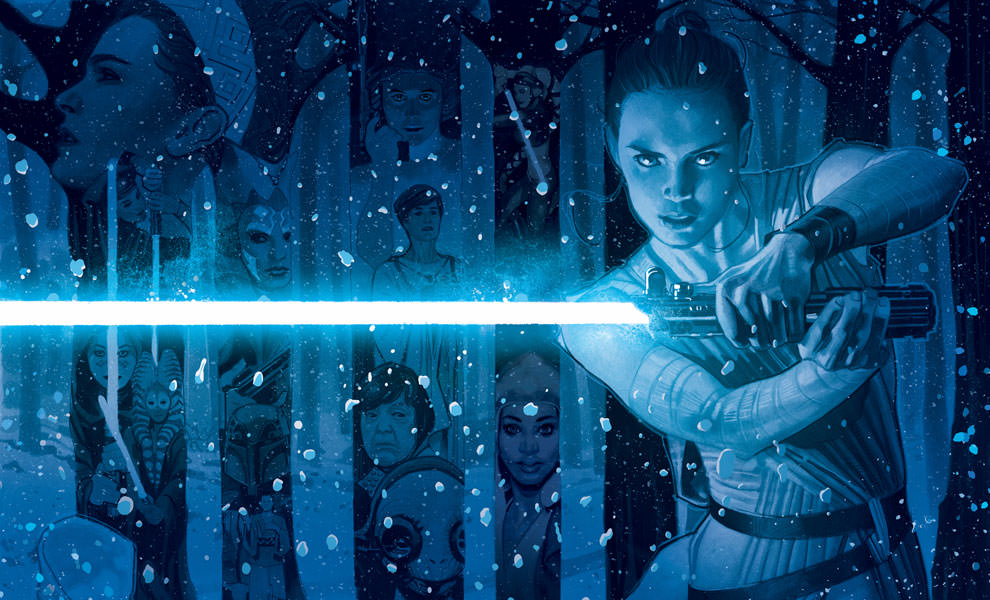 Gallery Feature Image of In a Galaxy Far Far Away Art Print - Click to open image gallery