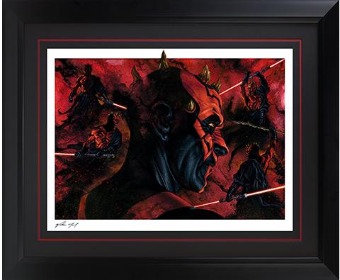 Sideshow Collectibles Darth Maul Dark Disciple Art Print