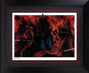 Darth Maul Dark Disciple Art Print