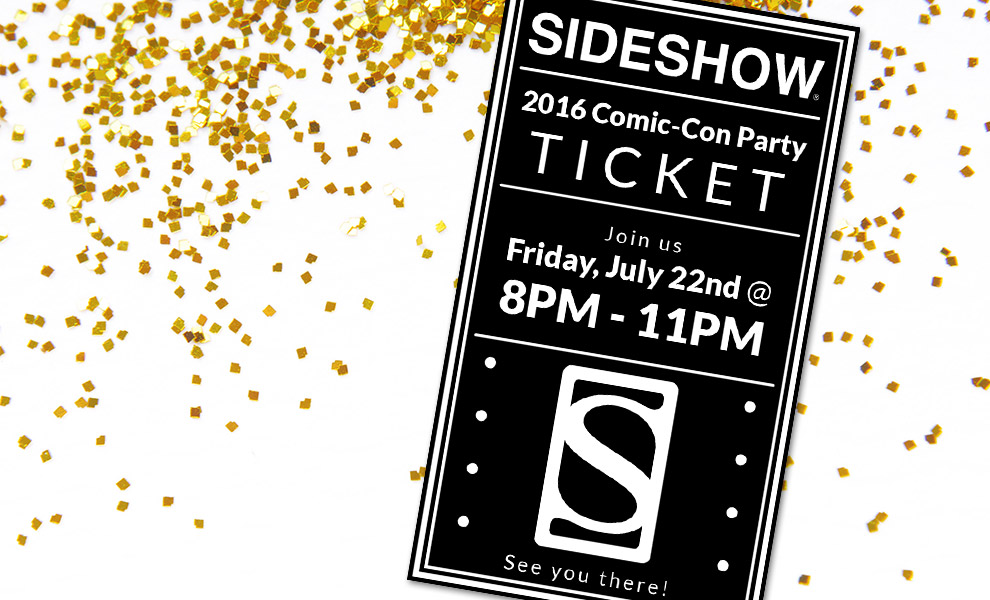 Gallery Feature Image of 2016 Sideshow Comic-Con Party Ticket Ticket - Click to open image gallery
