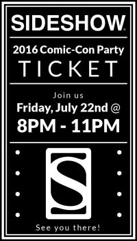Gallery Image of 2016 Sideshow Comic-Con Party Ticket Ticket