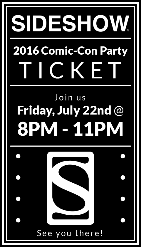 Sideshow Collectibles 2016 Sideshow Comic-Con Party Ticket Ticket
