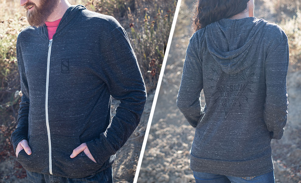 Gallery Feature Image of Sideshow Diamond Eco-Jersey Zip Hoodie Apparel - Click to open image gallery