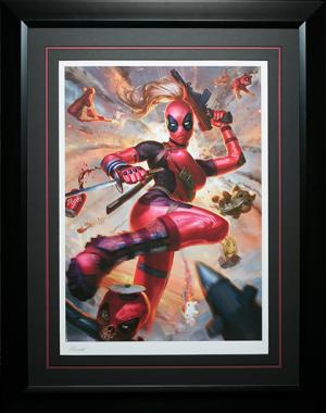 Lady Deadpool Art Print