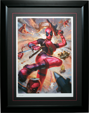 Lady Deadpool Art Print
