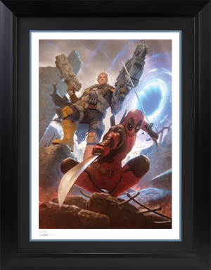 Deadpool and Cable Art Print