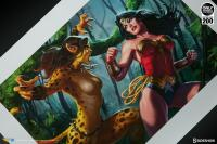 Gallery Image of Wonder Woman vs Cheetah Art Print