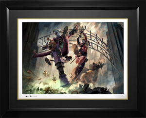 The Joker and Harley Quinn Arkham Asylum Breakout Art Print