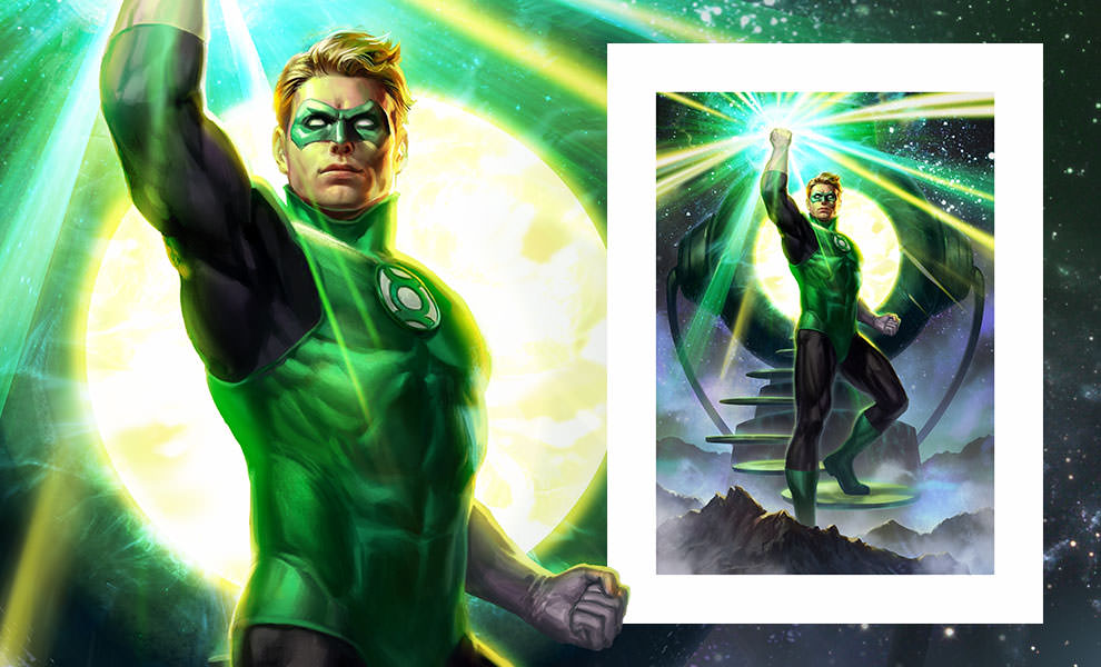 Gallery Feature Image of Green Lantern Art Print - Click to open image gallery