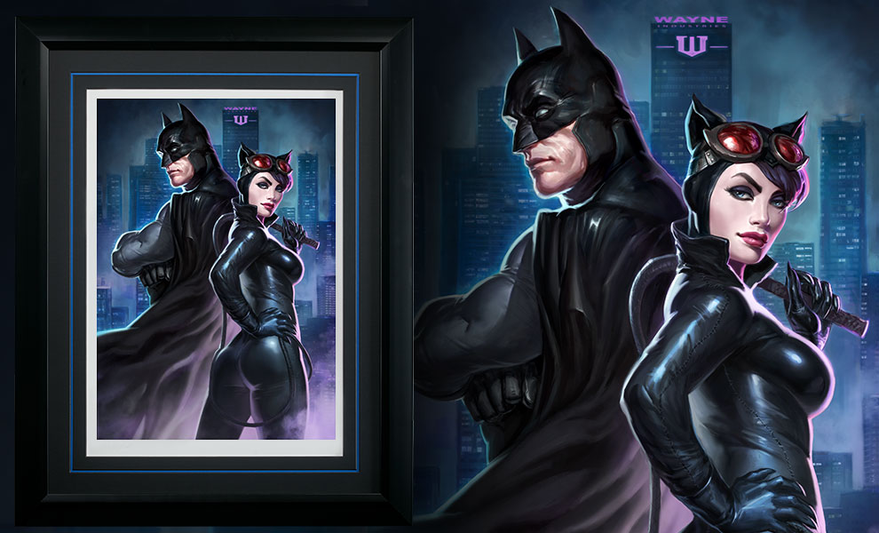 Gallery Feature Image of Batman Catwoman Art Print - Click to open image gallery