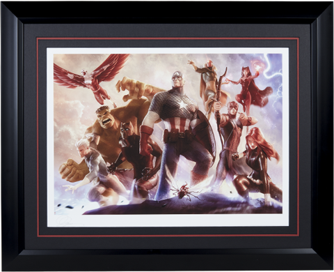 Sideshow Collectibles Avengers Team Cap Art Print