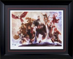Avengers Team Cap Art Print