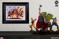 Gallery Image of Avengers Team Iron Man Art Print