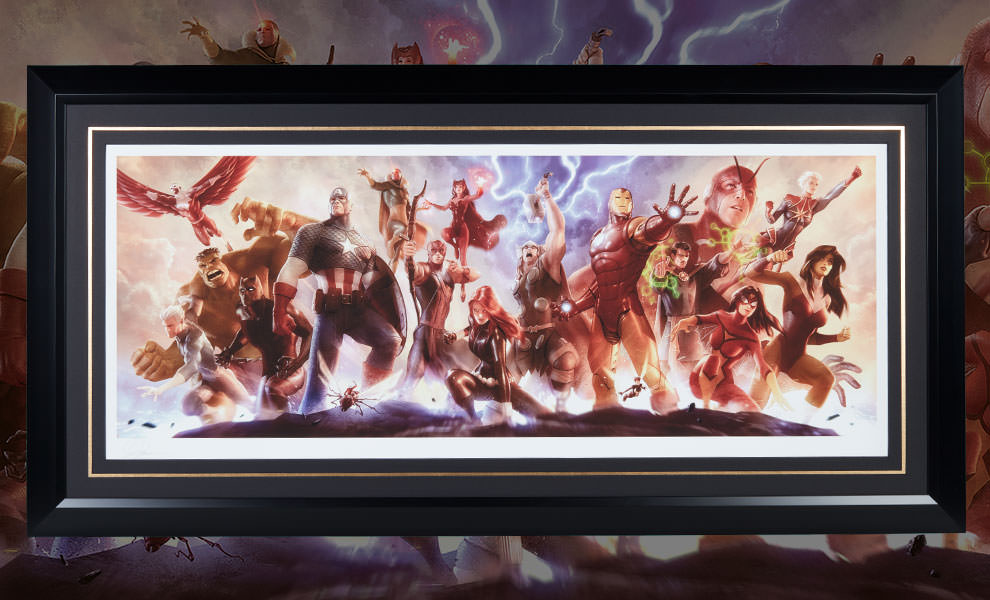 Gallery Feature Image of Avengers Assemble Art Print - Click to open image gallery