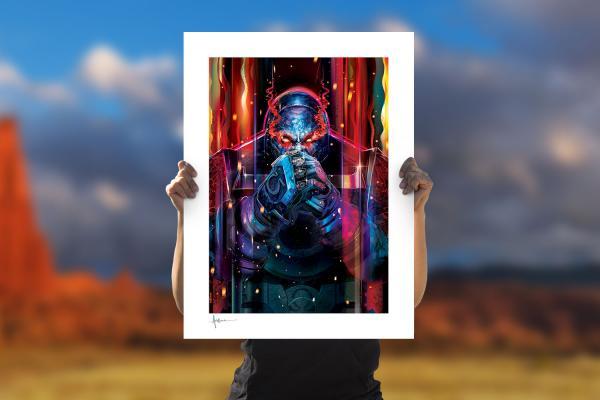Darkseid Fine Art Print by Orlando Arocena
