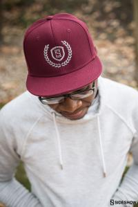 Gallery Image of Sideshow Burgundy Snapback Cap Apparel