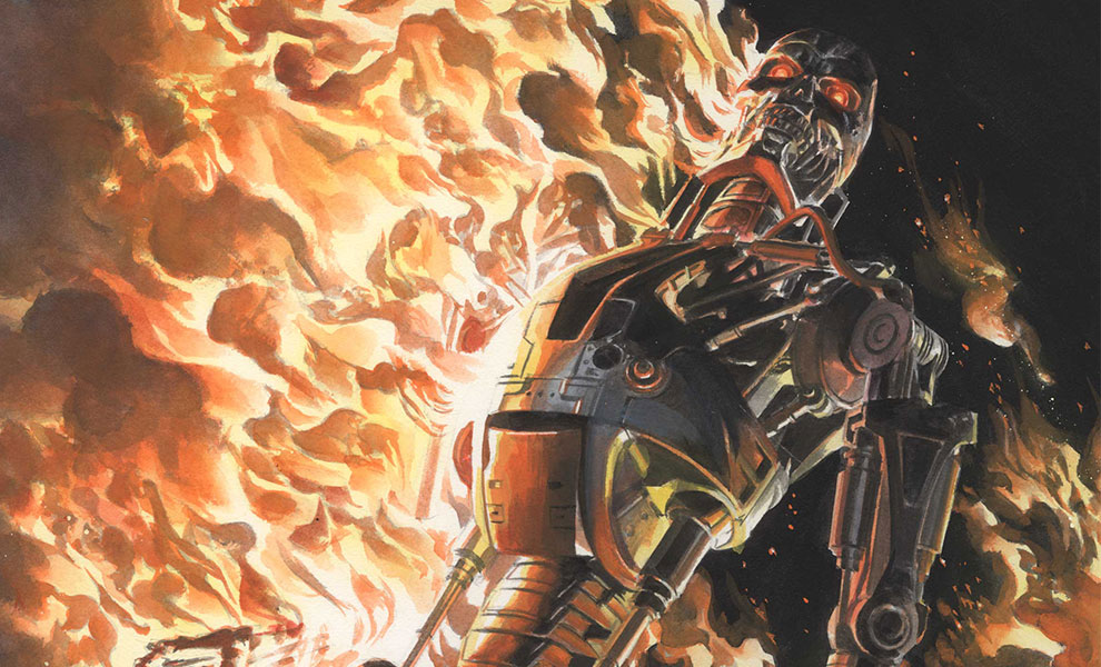 Gallery Feature Image of Terminator The Burning Earth Art Print - Click to open image gallery
