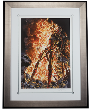 Terminator The Burning Earth Art Print